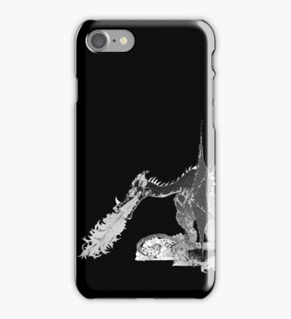 Dragon Breathing Fire on Pile of Skulls iPhone Case/Skin