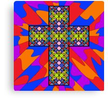 Stain Glass Cross  Canvas Print