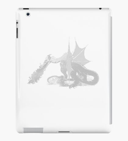 Dragon Breathing Fire on Pile of Skulls iPad Case/Skin