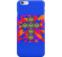 Stain Glass Cross  iPhone Case/Skin