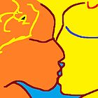 The Kiss I -(100214)- Digital artwork/MS Paint by paulramnora