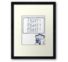 Fight! Kiss! Framed Print