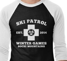 Sochi Winter Games Bio Hazard Ski Patrol T-Shirt Men's Baseball ¾ T-Shirt