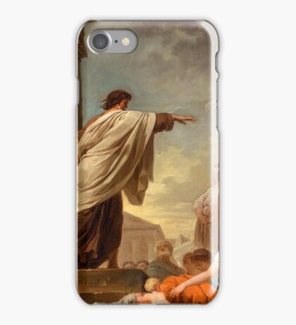 The Predication of Saint Paul Joseph-Benoit Suvée (Belgium, Bruges, active Italy, Rome, -). people listing, lord speaking iPhone Case/Skin