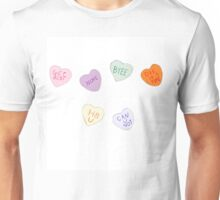 Sketch Candy Hearts Unisex T-Shirt