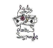 La La Love U Photographic Print