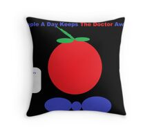 An Apple A Day Keeps The Doctor Away Throw Pillow