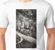 Black and White Great Blue Heron 2013-1 Unisex T-Shirt