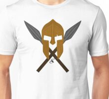 Spartan helmet crossed spears Unisex T-Shirt
