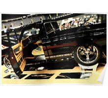Custom Truck in Mirror Black Poster