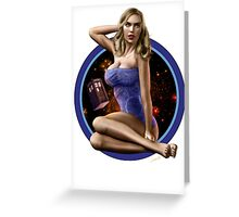 Bad Wolf - Aircraft Pin Up Girl Greeting Card