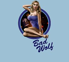 Bad Wolf - Aircraft Pin Up Girl Unisex T-Shirt