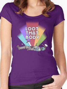 Loot That Body  Women's Fitted Scoop T-Shirt