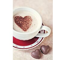 cappuccino and chocs Photographic Print