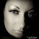 Female close up portrait. by Noel Moore Up The Banner Photography