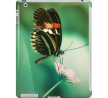 Red and black butterfly on white flower iPad Case/Skin