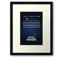 Space Vaders Framed Print