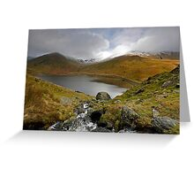 Clouds gather over Kentmere Reservoir Greeting Card
