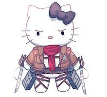 Attack on Titan Hello Kitty by Opeiaa