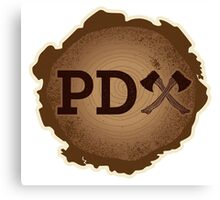 PD Axe on Wood Grain Canvas Print