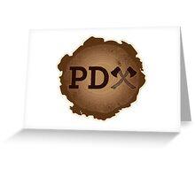 PD Axe on Wood Grain Greeting Card