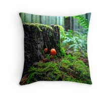 Small But Tough ~ Wild Mushrooms ~ Throw Pillow