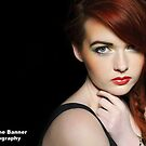 Close-up portrait of sexy caucasian young woman model by Noel Moore Up The Banner Photography