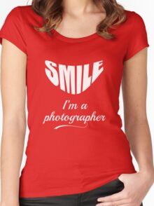 Funny Photographter T-Shirt Women's Fitted Scoop T-Shirt