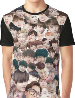 BTS/Bangtan Sonyeondan - Faces Graphic T-Shirt