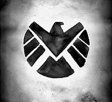 S.H.I.E.L.D (B&W version) by madalek