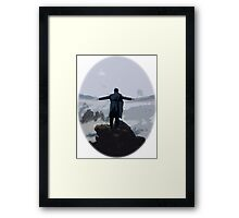 Sherlock above the Sea of Fog Framed Print
