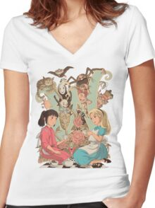 Wonderlands Women's Fitted V-Neck T-Shirt