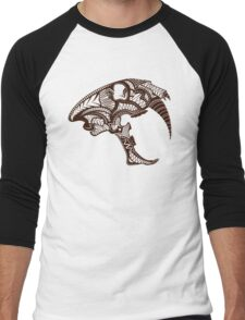 Sabre Tooth Tiger Skull Men's Baseball ¾ T-Shirt