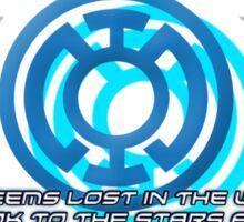 Blue Lantern's light Sticker
