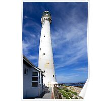 White Lighthouse in Blue Poster