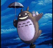 Totoro on his toupie by Totorooo