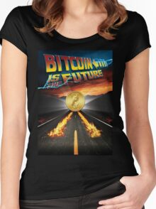 Bitcoin Is The Future Women's Fitted Scoop T-Shirt