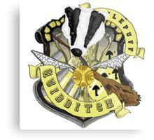 Hufflepuff Quidditch Pride Metal Print