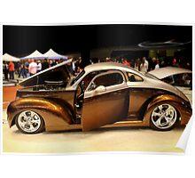 Custom Brown Hot Rod Poster