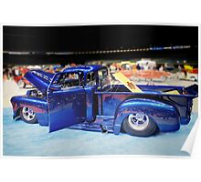 Electric Blue Custom Truck Poster