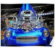 Custom Blue Hot Rod Poster