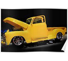 Custom Yellow Truck Poster