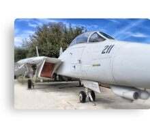 Retired Fighter Jet Canvas Print