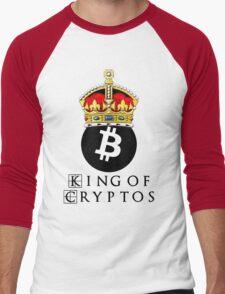 Bitcoin King Of Cryptos Men's Baseball ¾ T-Shirt