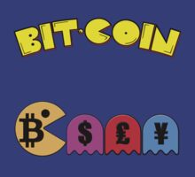 Pacman Bitcoin Money Gaming Nerd Design by NibiruHybrid