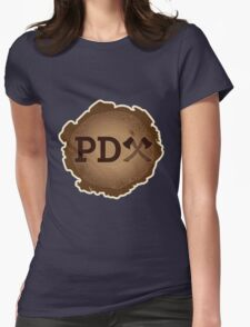 PD Axe on Wood Grain Womens Fitted T-Shirt