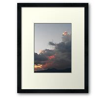 ©HCS Red Mystery On Clouds IA Framed Print