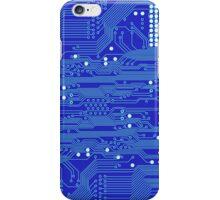 Blue Circuit Board iPhone Case/Skin