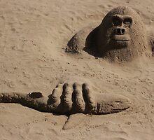 sand gorilla by Perggals© - Stacey Turner
