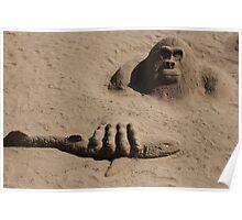 sand gorilla Poster